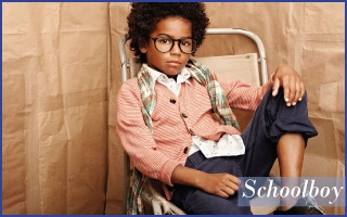 Preppy schoolboy